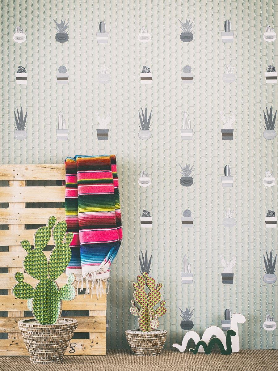 carta da parati cozy cactus