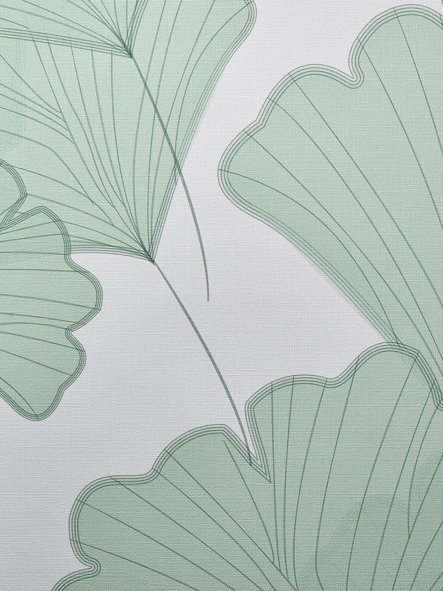 carta da parati green biloba