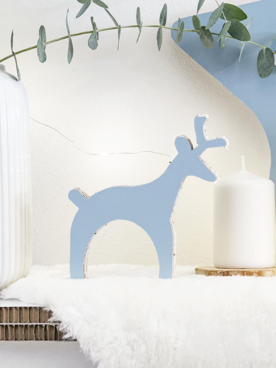 decorazione renna di natale in cartone alveolare