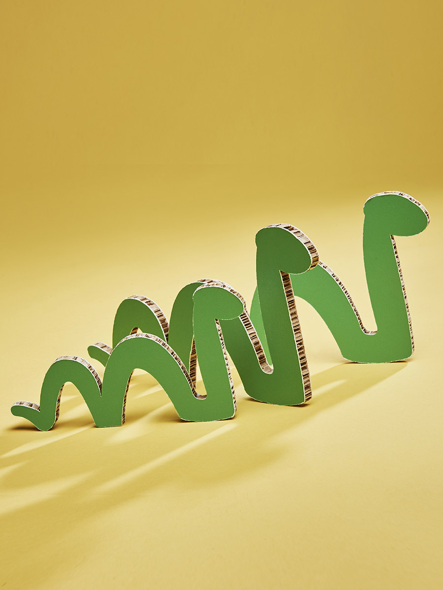 serpentini in cartone alveolare per bimbi