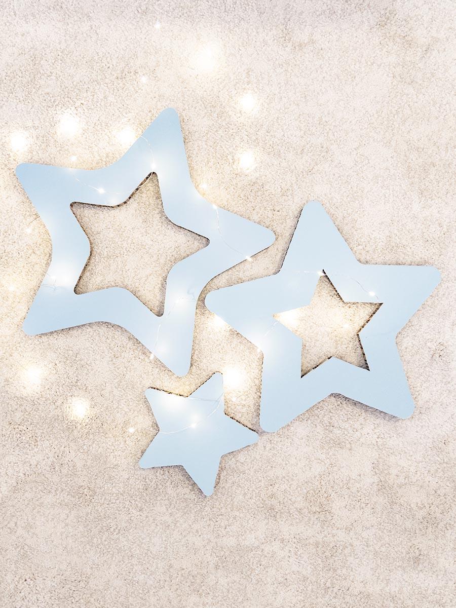 decorazione stelle in cartone alveolare