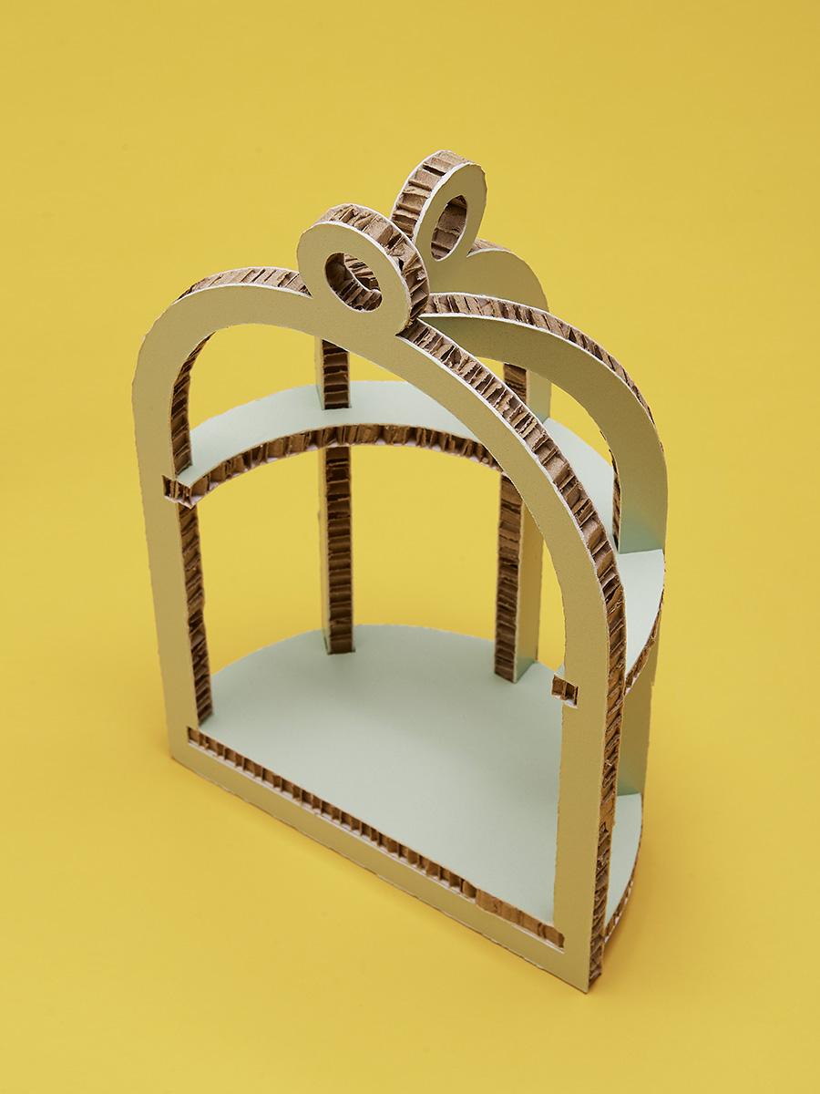 gabbia in cartone alveolare